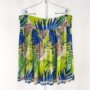 Lane Bryant Palm Leaf Print Pull on Skirt
